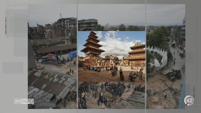 Népal - Séisme: tout un patrimoine culturel a été détruit [RTS]