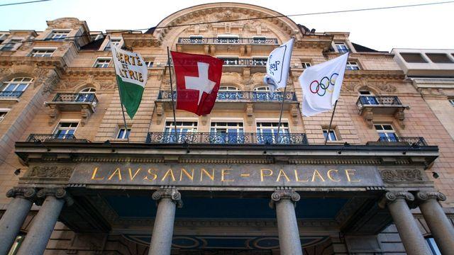 L'hôtel Lausanne Palace est désormais détenu à 100% par la Fondation de famille Sandoz. [Fabrice Coffrini - Keystone]
