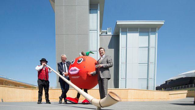 Le pavillon suisse à l'Expo universelle Milan 2015. [Samuel Golay - Keystone]