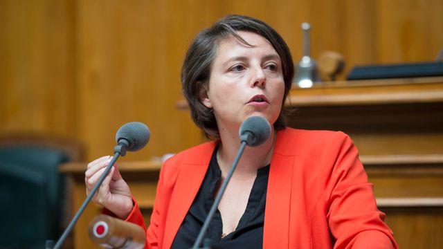 La conseillère nationale vaudoise Ada Marra (PS). [Gian Ehrenzeller - Keystone]