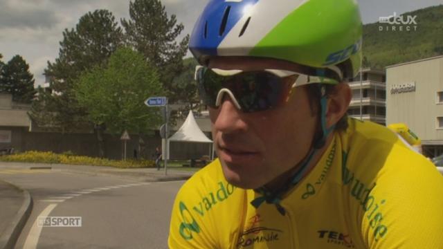3e étape - Interview du maillot jaune Michael Albasini avant l'étape - 6744725