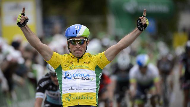 Michael Albasini est bien l'homme fort du Tour de Romandie. [Jean-Christophe Bott - Keystone]