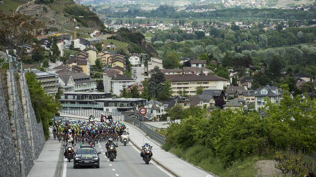 La ville de Sion a accueilli les coureurs l'année dernière. [Jean-Christophe Bott - Keystone]