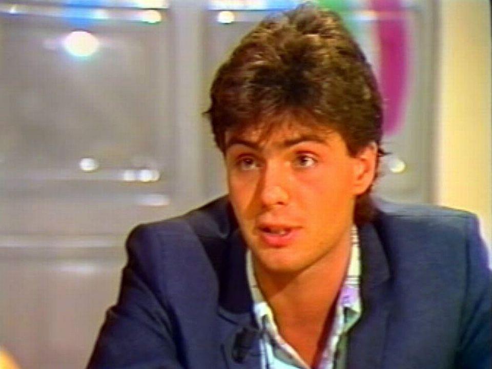 Laurent Deshusses, le premier présentateur de la TSR.