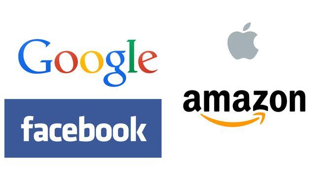 Les logos de Google, Apple, Facebook et Amazon. [RTS]