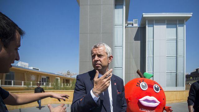 Nicolas Bideau, Chef von Praesenz Schweiz und Verantwortlicher fuer die Teilnahme der Schweiz an der Expo 2015 [Samuel Golay - KEYSTONE]