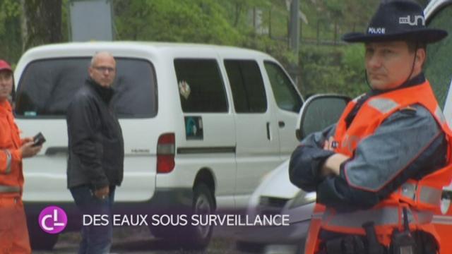 L'abondante pluie tombant sur une partie de la Suisse crée les premiers problèmes [RTS]