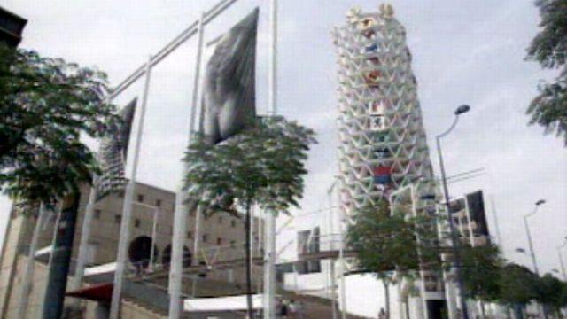 Pavillon suisse à l'exposition universelle de Séville en 1992. [RTS]