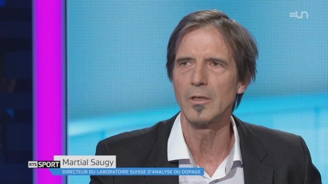 Entretien avec Martial Saugy, directeur du laboratoire suisse d'analyse du dopage [RTS]