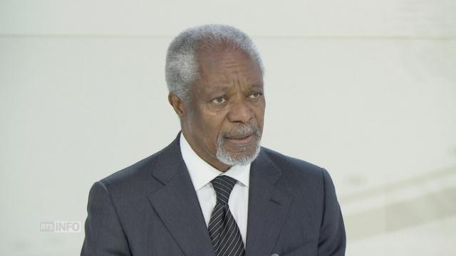 Kofi Annan s'exprime sur les migrants [RTS]
