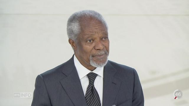 Kofi Annan donne son opinion sur les positions révélées par la Commission européenne [RTS]
