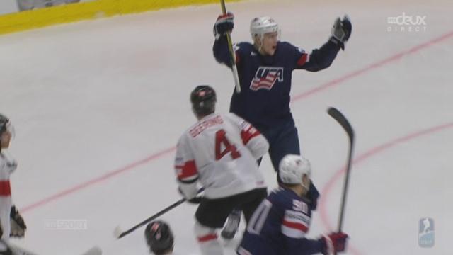 1-4, USA - Suisse (2-1): Charlie Coyle double la mise pour les Américains sur assiste de Seth Jones [RTS]