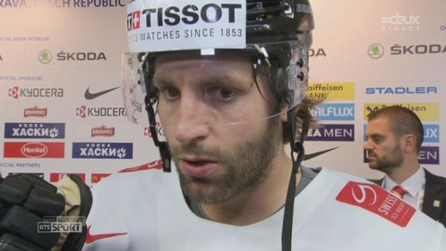 1-4, USA - Suisse (3-1): interview de l'attaquant suisse Kevin Romy [RTS]