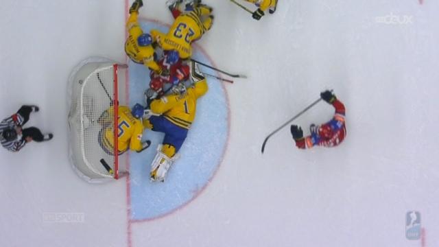 1-4, Suède - Russie (0-2): le goal de Shirokov est accepté après vérification des arbitres [RTS]