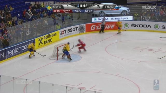 1-4, Suède - Russie (2-3): Anton Lander réduit l'écart pour la Suède [RTS]