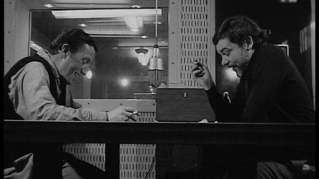 Emile Gardaz et Michel Dénériaz en 1972. [RTS ]