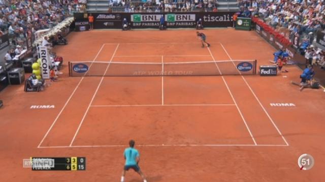 Tennis - Tournoi de Rome: Federer remporte la victoire contre Thomas Berdych [RTS]