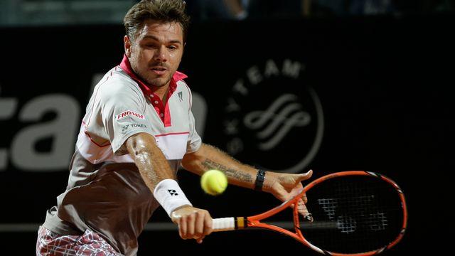 Stan Wawrinka défie Roger Federer ce samedi soir en demi-finales du tournoi de Rome. [Alessandra Tarantino - AP Photo - Keystone]