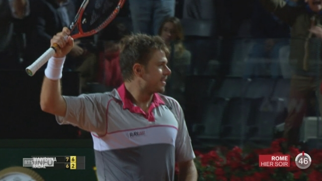 Tennis - ATP Rome: Wawrinka élimine Nadal [RTS]