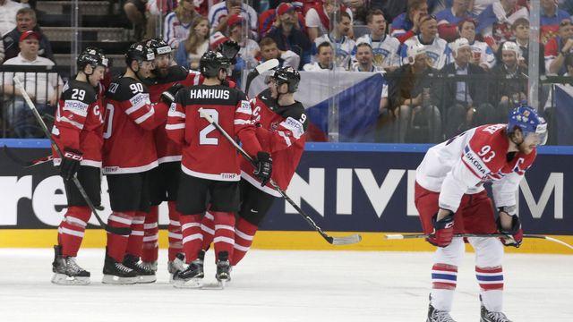 Les Tchèques n'ont pas réussi d'exploit face à la force de frappe canadienne. [Petr David Josek - Keystone]