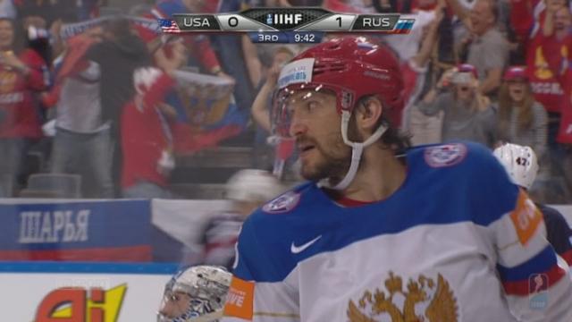 2e demi-finale: Etats-Unis - Russie (0-2). A moins de 10 minutes de la fin, c'est 0-2 par Ovechkin [RTS]