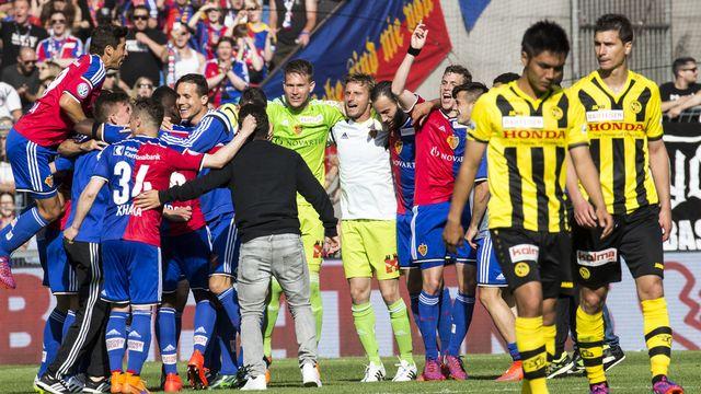 Le FC Bâle célébre son 18e titre national. [Patrick Straub - Keystone]