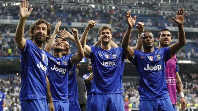 """13 mai: la Juventus rejoint Barcelone en finale de la Ligue des champions. A Madrid, face au Real, la """"Vieille Dame"""" valide son ticket grâce à un match nul (1-1) mérité. Le 6 juin à Berlin, la Juve visera un 3e trophée dans la compétition. [Alberto Martin - Keystone]"""