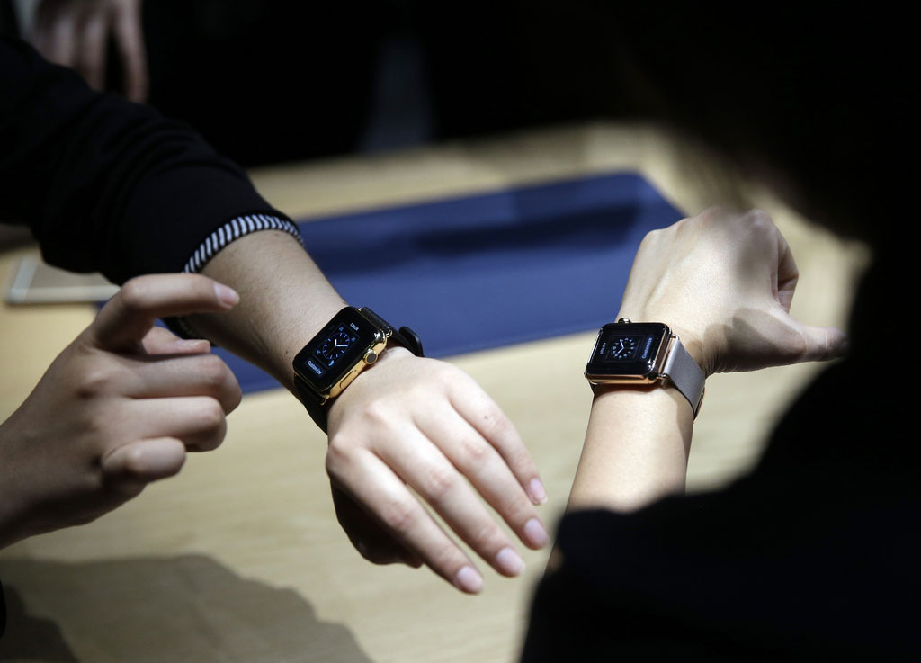 La montre connectée d'Apple.