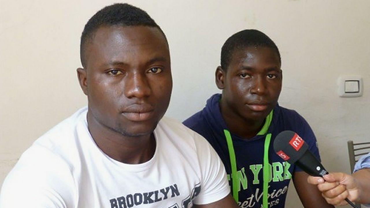 A Côme, Caritas a surtout affaire à de très jeunes Maliens et Gambiens. [Gerhard Lob - RTS]