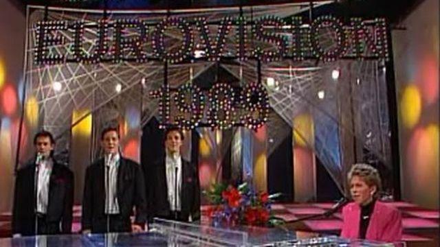 La finale suisse du Concours de l'Eurovision à Zoug, en 1989. [TSR]