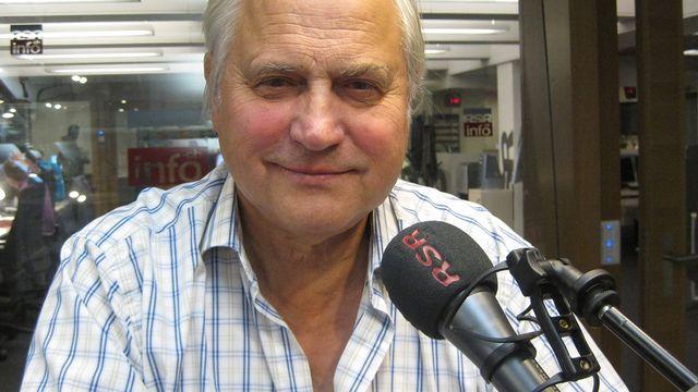 Michel Moret, fondateur des éditions de l'Aire. [Philippe Vaudan - RTS]