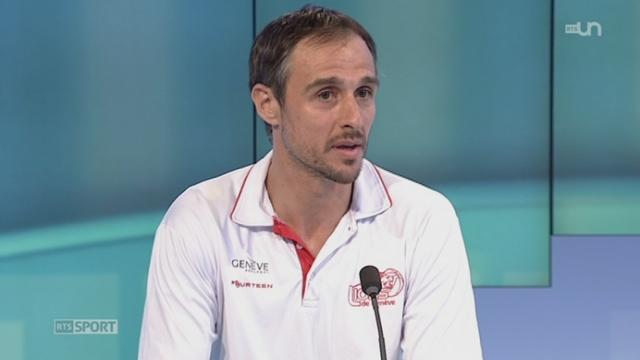 Basketball- LNA: entretien avec le Croate Andrej Stimac, capitaine des Lions de Genève désormais champions de Suisse [RTS]