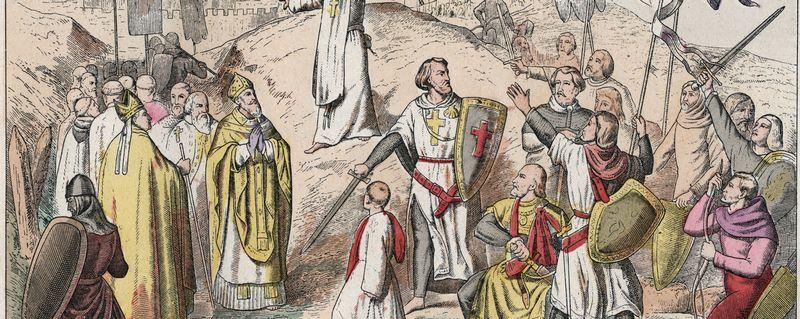 Première Croisade: le siège et la prise de Jérusalem par les croisés menés par Godefroy de Bouillon en 1099.