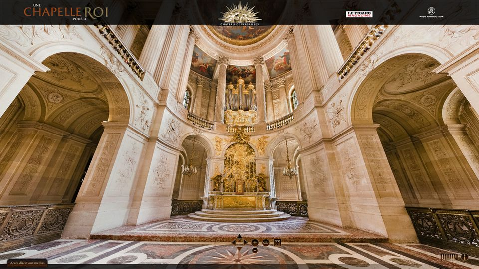 Visite virtuelle de la chapelle de Versailles. [chateauversailles.fr]