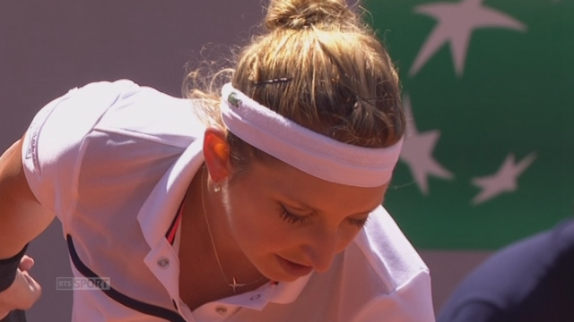 Timea Bacsinszky (SUI-23) - Madison Keys (USA-16) (6-4). La Suissesse menait 5-1, puis 5-4, avant de s'imposer tout de même [RTS]