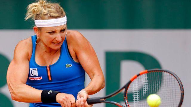 26 mai: présente pour la 6e fois dans le tableau final de Roland-Garros, Timea Bacsinszky ne manque pas son entrée. La Vaudoise domine l'Espagnole Lara Arruabarrena 6-3 6-4 et passe le cap du 1er tour pour la 6e fois à la Porte d'Auteuil. [Robert Ghement - Keystone]