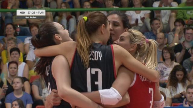 Demi-finale, Pays-Bas – Turquie (27-29). Les Turques s'imposent dans la 1re manche [RTS]