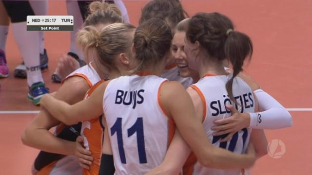 Demi-finale, Pays-Bas – Turquie (27-29 25-23 12-25). Les Néerlandaises se reprennent et arrachent leur droit à un 5e set [RTS]