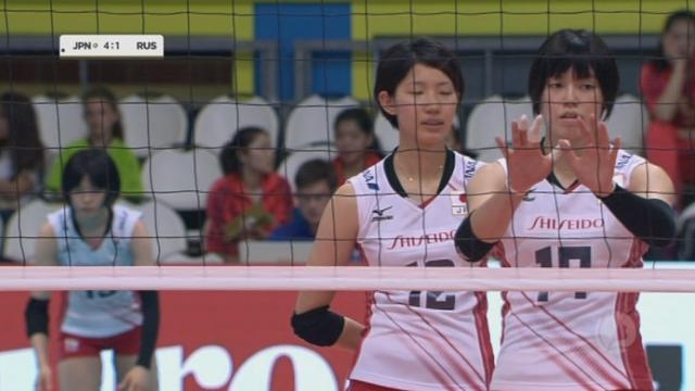 2e demi-finale, Japon – Russie (25-23 5-1). La formidable défense japonaise [RTS]