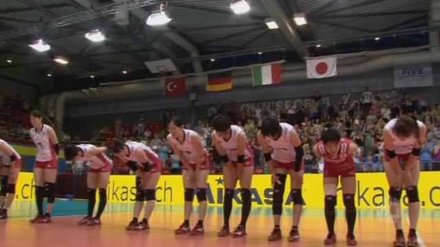 2e demi-finale, Japon – Russie (25-23 25-22 25-13). La finale opposera la Turquie au Japon [RTS]
