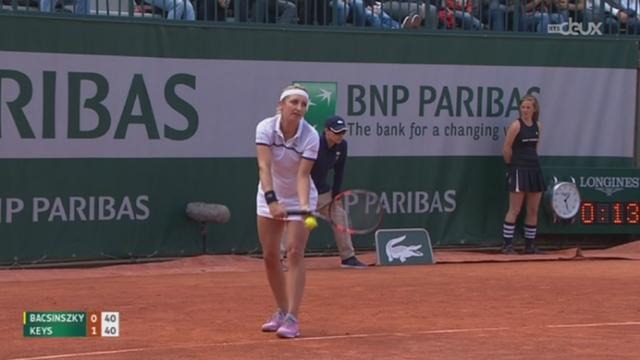 Tennis- Roland Garros: Timea Bascinszky bat facilement Madison Keys (6-4, 6-2) et fonce vers les huitièmes [RTS]