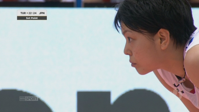 Finale, Turquie - Japon (22-25). Les Japonaises se jouent de la taille supérieur de leurs adversaires et remportent la 1re manche [RTS]
