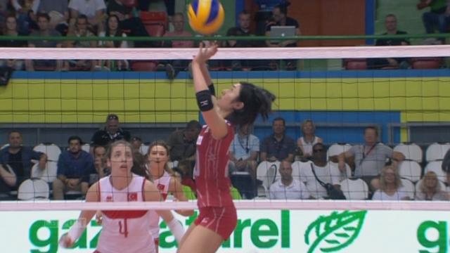 Finale, Turquie - Japon (22-25 12-16). Une passeuse japonaise hors norme [RTS]