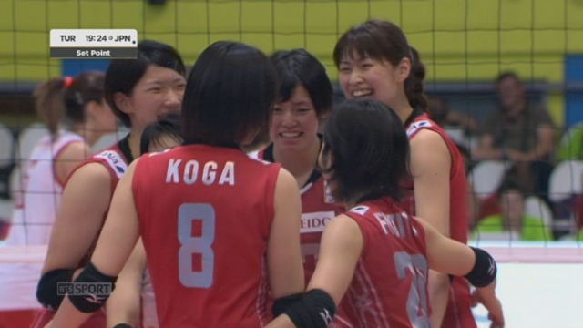 Finale, Turquie - Japon (22-25 19-25). Les Japonaises mènent 2 manches à rien en une heure [RTS]