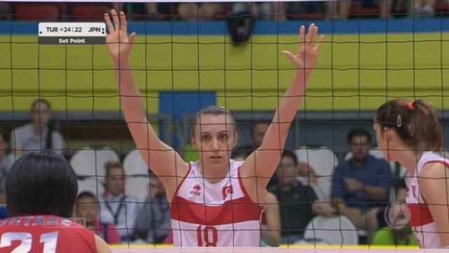Finale, Turquie - Japon (22-25 19-25 25-19 25-22). Incroyables Turques, qui reviennent de 0-2 à 2 manches partout [RTS]