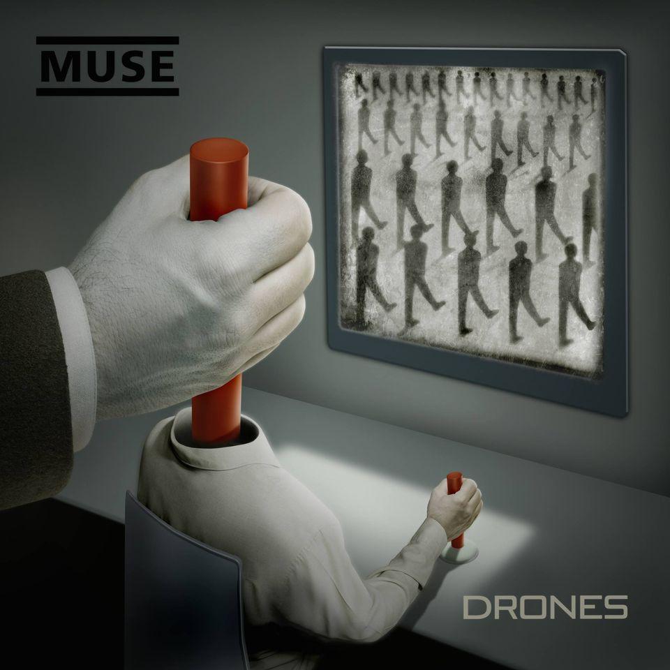 "La pochette de l'album ""Drones"" de Muse. [Warner]"
