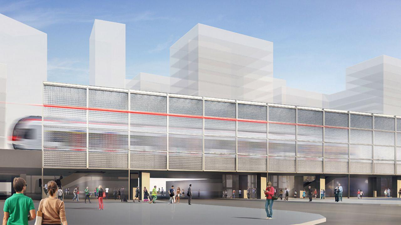 Image de synthèse de la future gare de Lancy-Pont-Rouge. [CEVA]