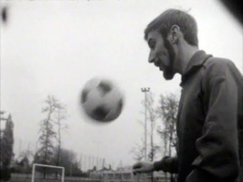 Le footballeur valaisan Pierrot Georgy en 1968. [RTS]