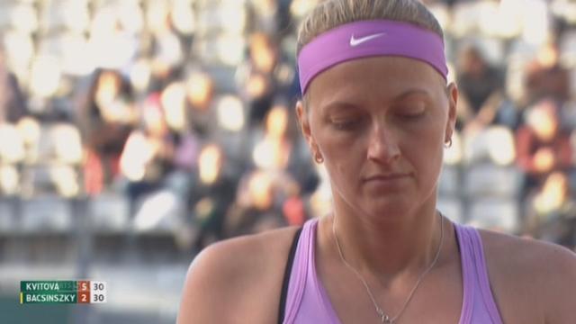 1-8 dames, Petra Kvitova (CZE-4) - Timea Bacsinszky (SUI) (6-2): Petra Kvitova remporte facilement le premier set [RTS]