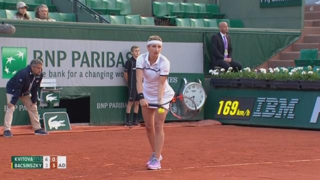 1-8 dames, Petra Kvitova (CZE-4) - Timea Bacsinszky (SUI) (6-2, 0-6) : Bacsinszky s'impose dans le 2e set [RTS]